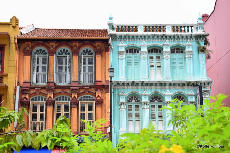 Chinatown Singapur, bunte Häuser