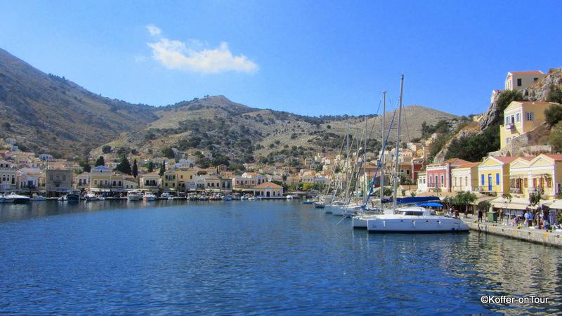 Hafen, Symi, Griechenland, Schwammtaucher