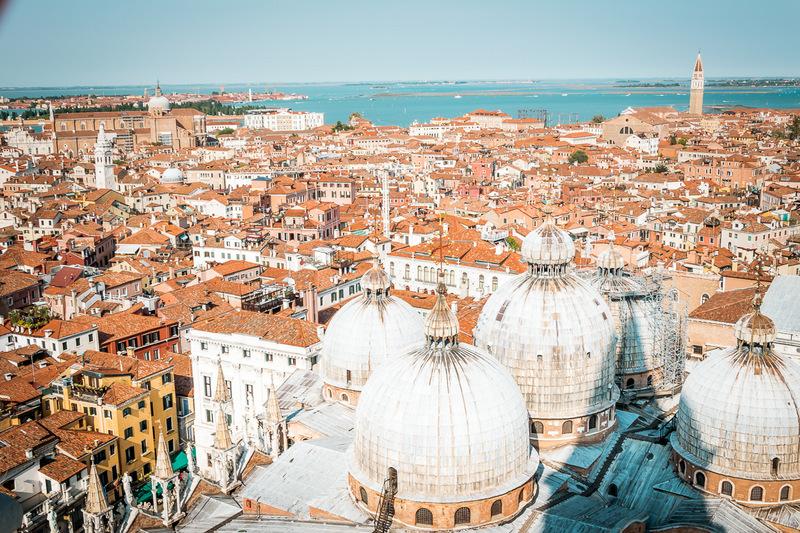 Markusturm, Markusplatz, Venedig, Venezia, Italien, Lagunenstadt,