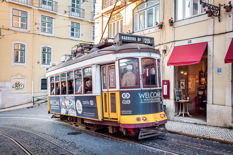 Tram 28, Strassenbahn, Lissabon, Portugal,