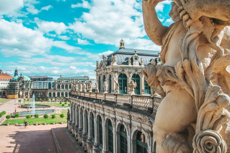 Zwinger, Barok, Dresden, Garten, Goldene Krone, Deutschland, Reisen, Urlaub