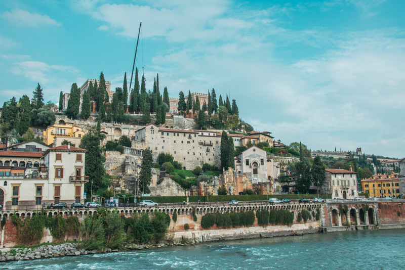 Castel San Pietro, Schloß, Verona, Italien
