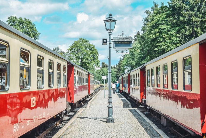 Brockenbahn, Broken, Harz, Zug, Historische Bahn, Dampflok, Lokomotovive, Bahnhof Schierke, Urlaub in Deutschland