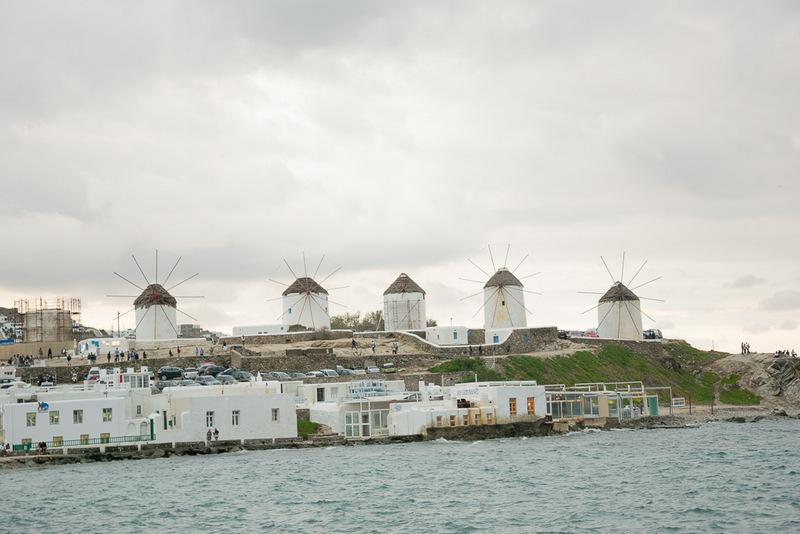 Windmühlen, Mykonos, Kykladen, Griechenland