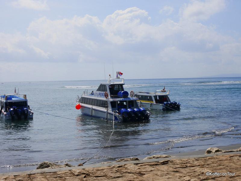 Speedboat nach Nusa Penida, Schnellboot, Bali, Hafen Sanur