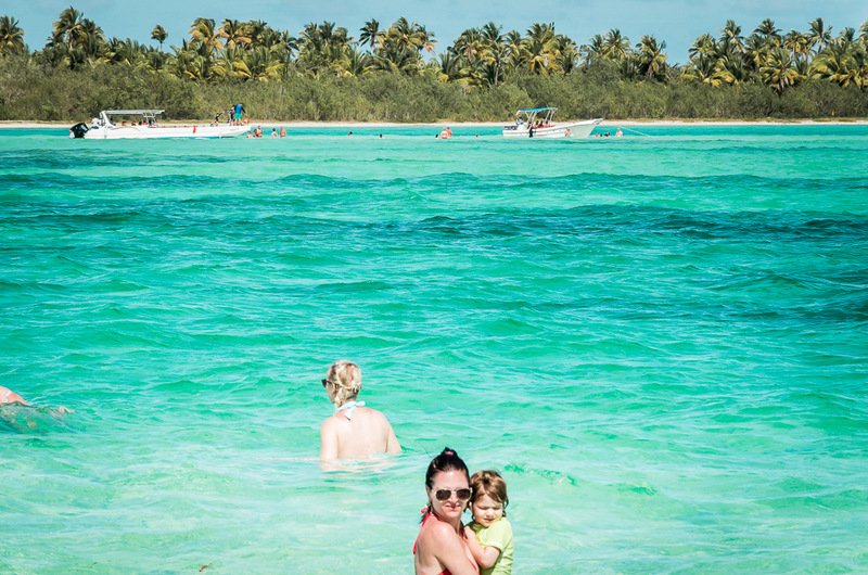 Die Sandbank bei der Isla Saona, Seesterne, Ausflug, Dominikanische Republik