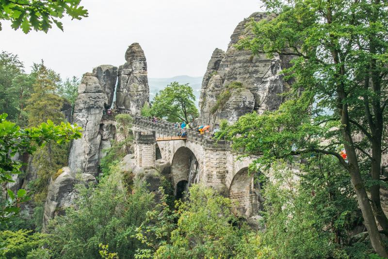 Basteibrücke in der Sächsischen Schweiz, Elbsandsteingebirge, Elbsandstein, Sachsen, Deutschland