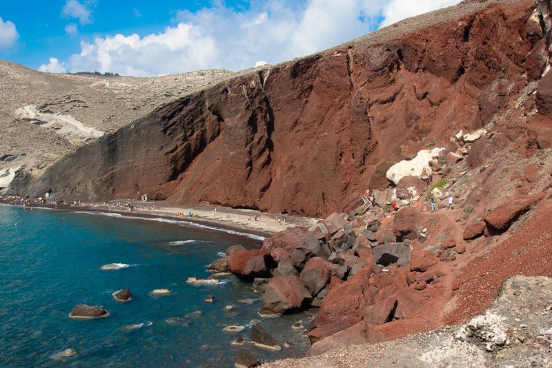 Red Beach, Santorini, Kykladen, Griechenland, Ägäis