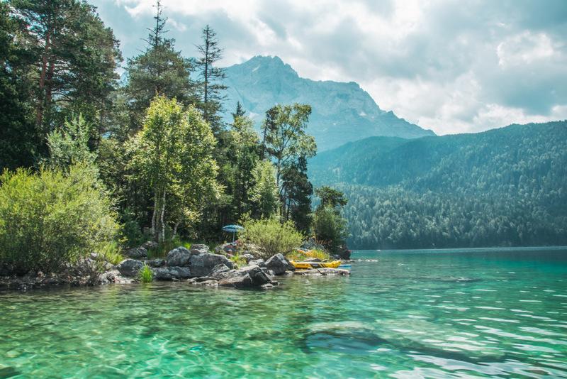 Eibsee, Zugspitze, See, Allgäu, Deutschland, Reisen, Urlaub