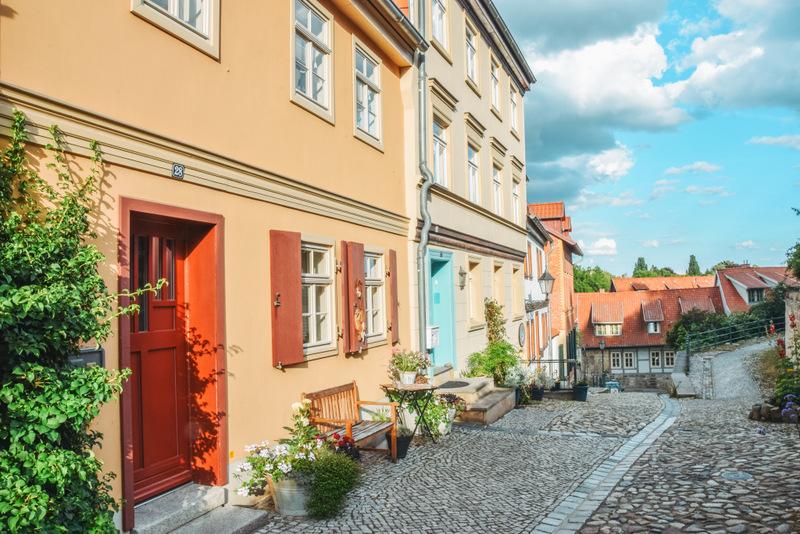 Quedlinburg, Stadt im Harz, Fachwerkhäuser, Harz, Urlaub in Deutschland