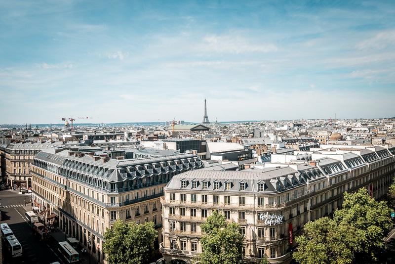 Aussicht vom Kaufhaus Lafayette, Paris, Eiffelturm, Frankreich