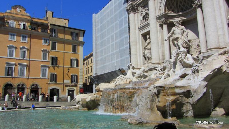 Trevi Brunnen, Rom, Italien, Stadt,