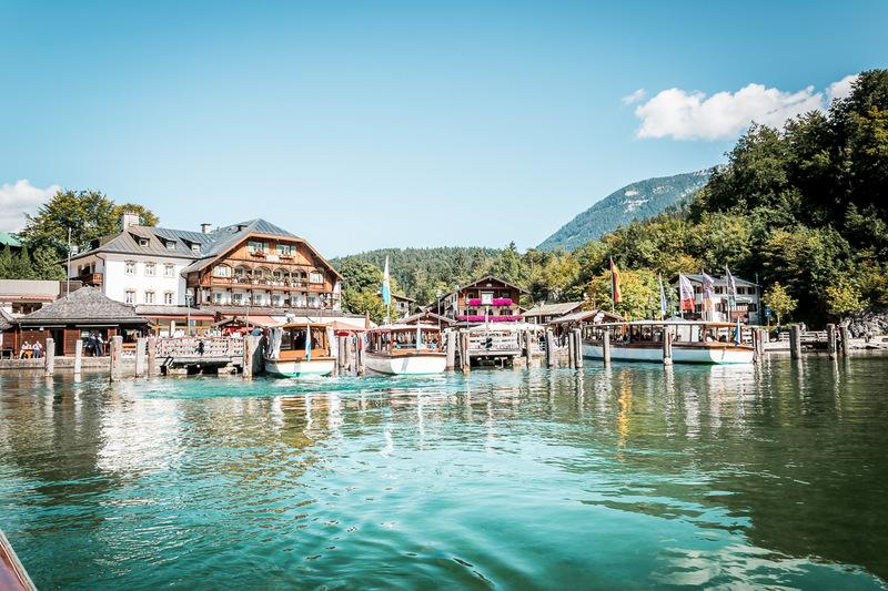 Boote, Schiffahrt, Königssee, Schönau, Deutschland, Bayern