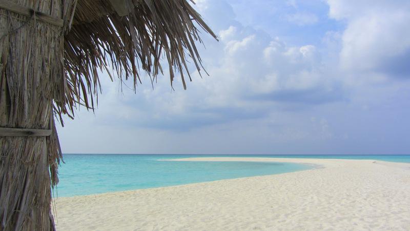Einsame Sandbank auf den Malediven