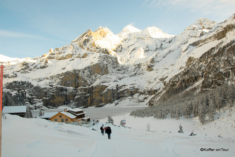 Restaurant, Oeschinensee, Schweiz, Winter