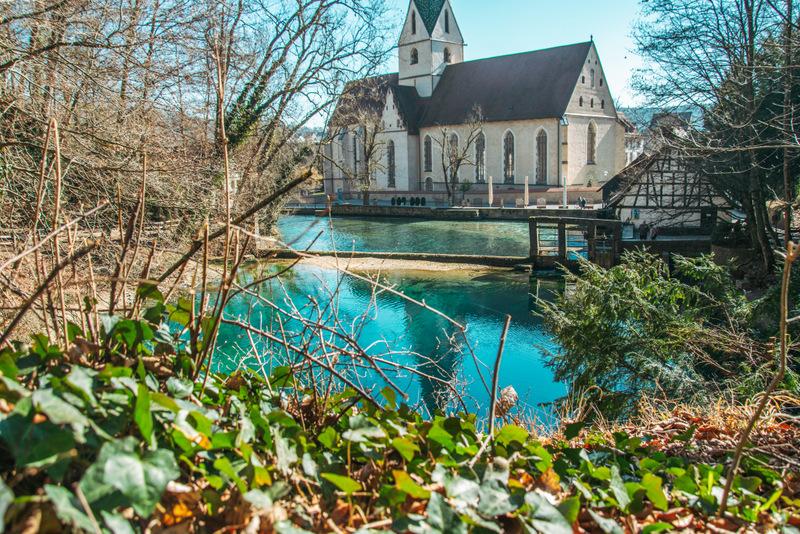 Blautopf, Blaubeuren, Blauer See, Sehenswürdigkeit, Deutschland