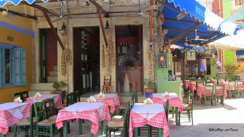 Taverne, Symi, Griechenland, Insel, Ägäis