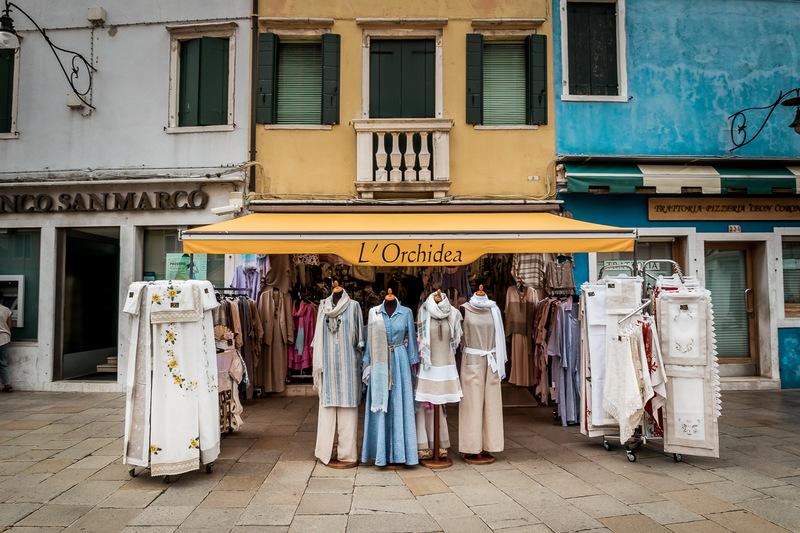 Burano, Venedig, Venezia, Italien, Spitzen