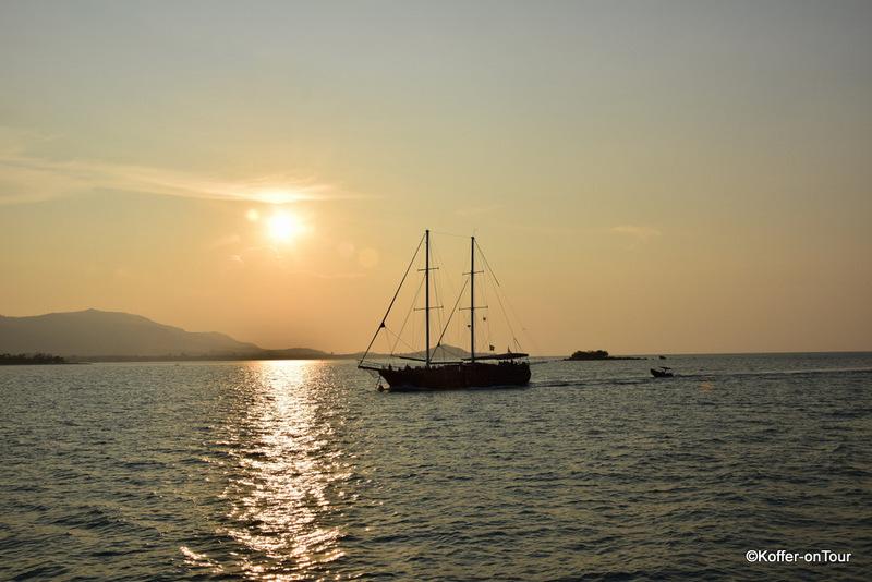 Sonnenuntergang, Koh Samui, Piratenschiff, Thailand