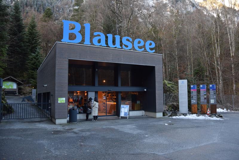 Blausee, Schweiz, Eingang, Parkplatz