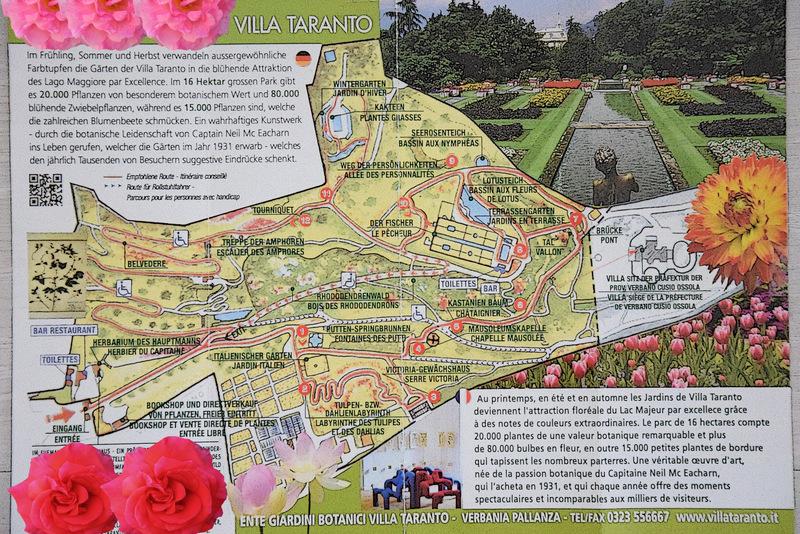 Lageplan des Botanischen Garten