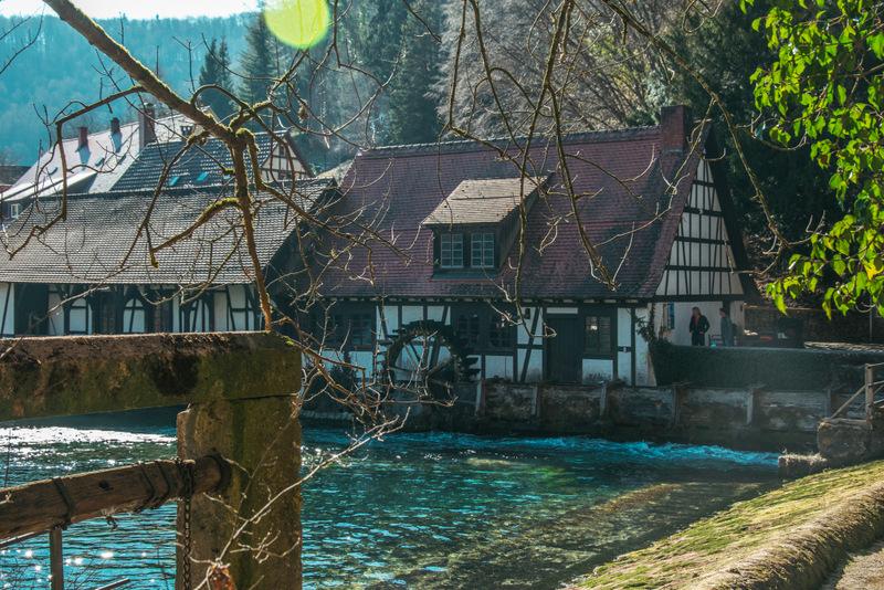 Blautopf, Blaubeuren, Hammerschmiede, Mühle, Deutschland, Reisen, Reise, Ausflug