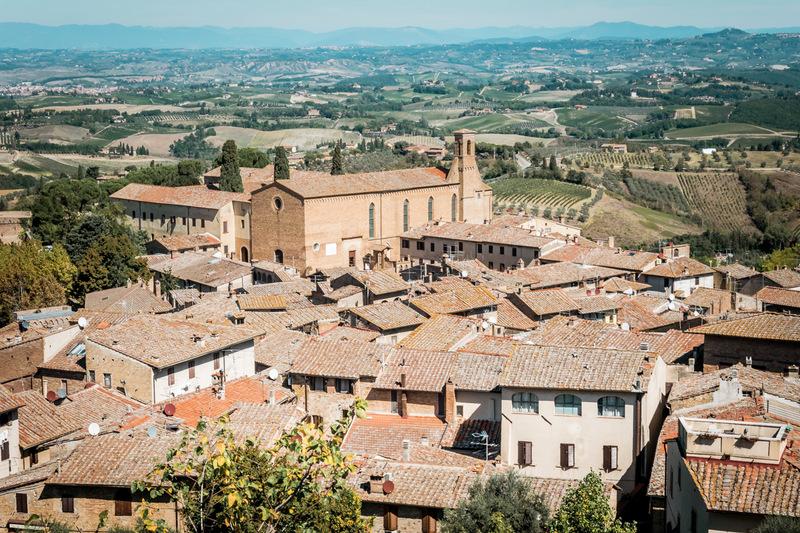 San Gimignano, Toskana, Italien,