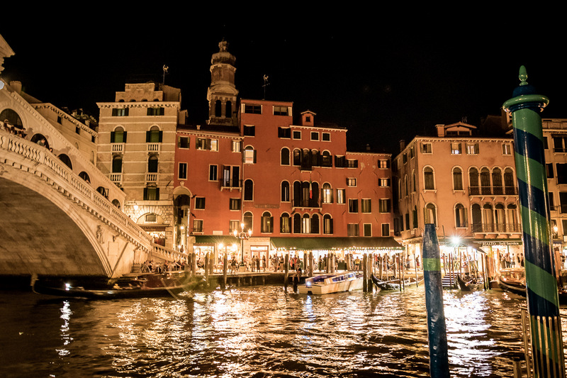 Venedig bei Nacht, Venezia, Lagunenstadt, Italien