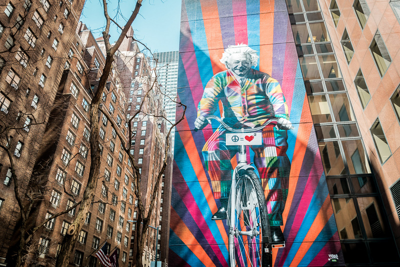 Street Art in New York - Einstein