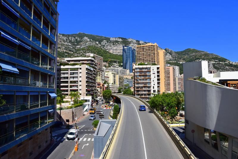 Formel 1 Strecke durch Monaco