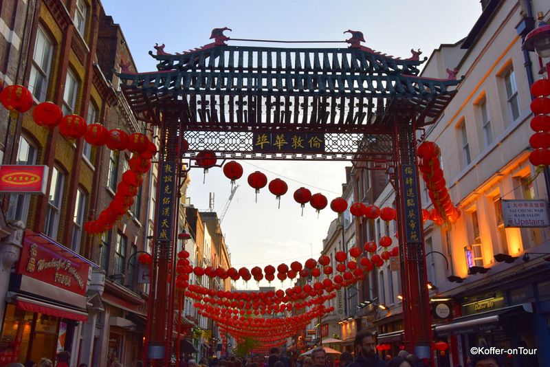 China Town London Rote Lampions Chinesische Restaurants Asien Asia Stadtteil