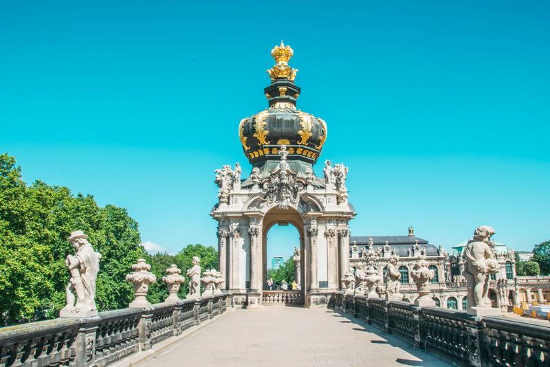 Dresden, Zwinger, Barock, Goldene Krone