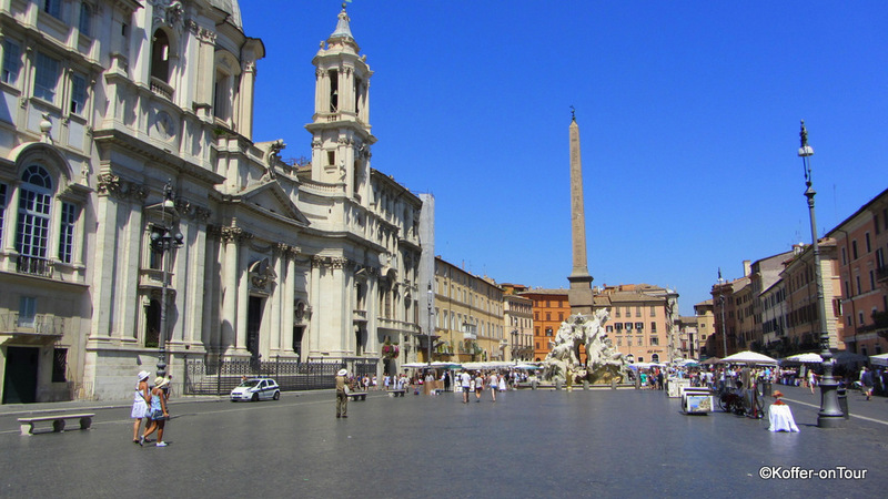 Piazza Navona, Platz, Rom, Brunnen, Italien