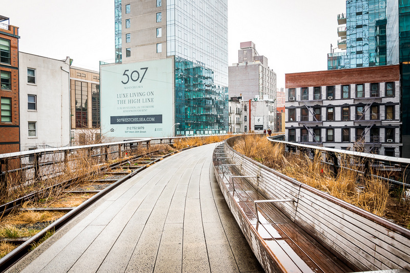 High Line, New York, Still gelegte Metro Linie