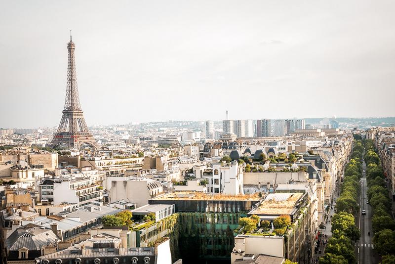 Aussicht vom Triumph Bogen, Paris, Frankreich, Beste Aussicht