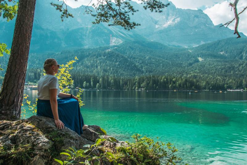 Eibsee, Bayrische Karibik, Zugspitze, Bayern, Deutschland, Urlaub, See