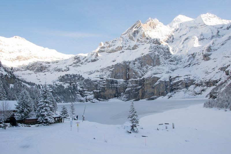 Oeschinensee, Winter, Schweiz