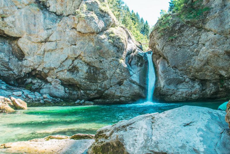 Buchenegger Wasserfälle, Allgäu, Deutschland, Heimat, Urlaub, Reisen
