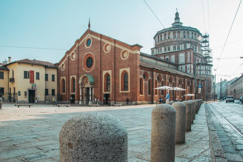"""Leonardo Da Vincis """"Abendmahl"""",  Kirche Santa Maria delle Grazie"""