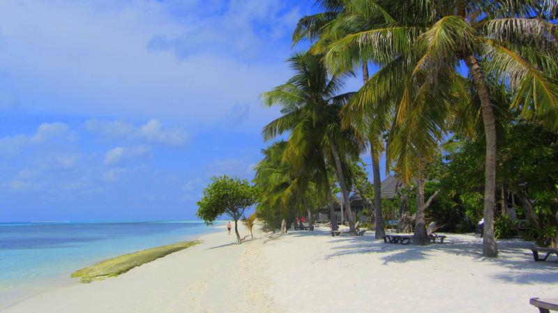 Strand, Malediven, Insel, Kuredu Island