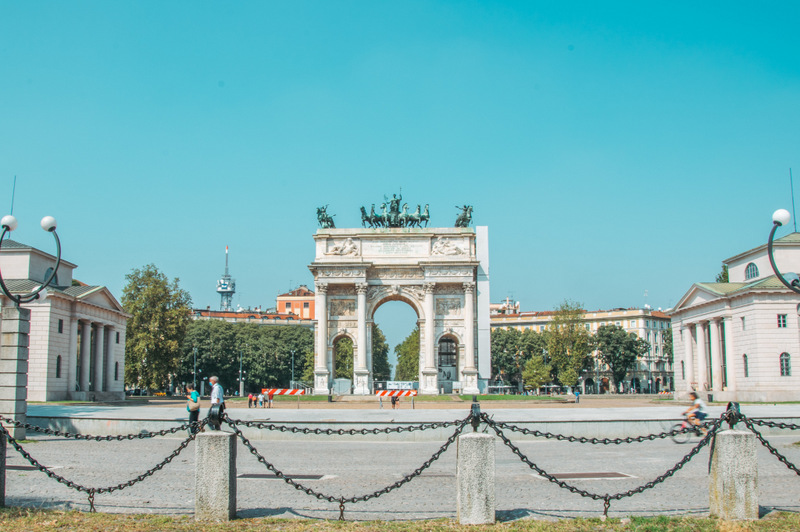 Simplonpark, Mailand, Castello Sforzesco, Arco della Pace, Milano