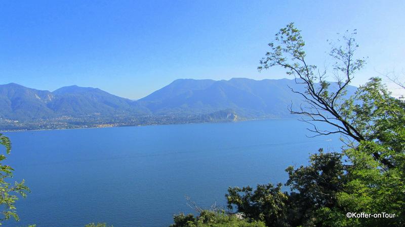 Der Lago Maggiore vom italienischen Ufer ausgesehen