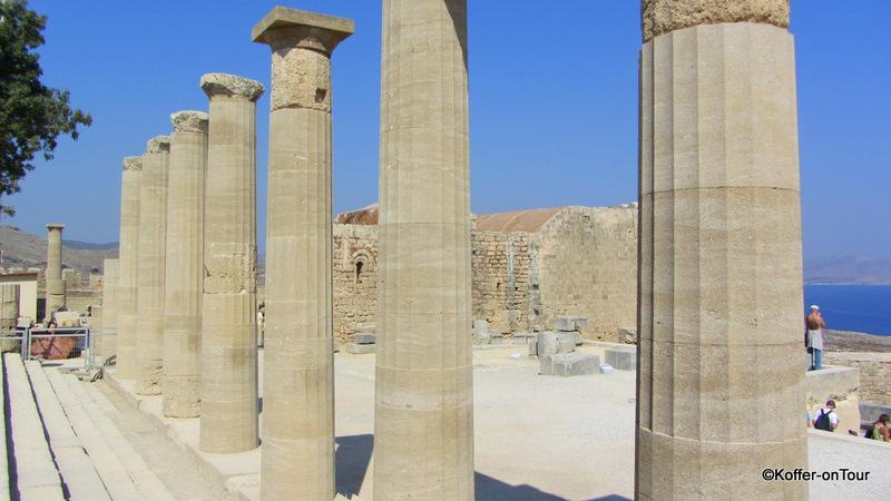 Akropolis, Lindos, Ruinen, Antik, Denkmal