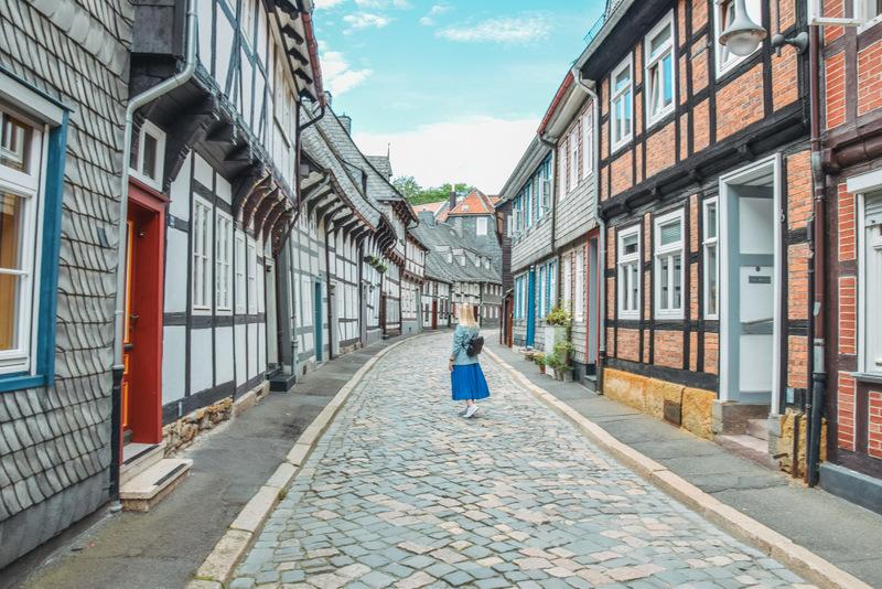 Goslar, Stadt im Harz, Fachwerkhäuser, Urlaub in Deutschland, Harz