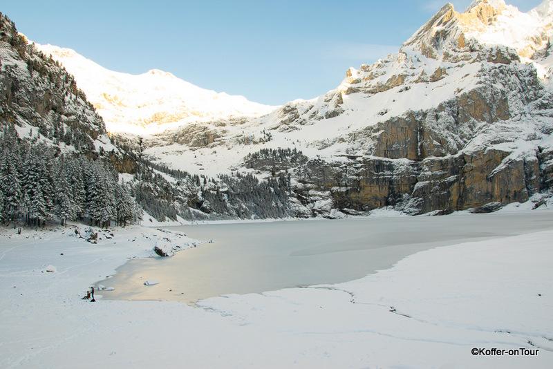 Oeschinensee, Winter, Schweiz, Kandersteg