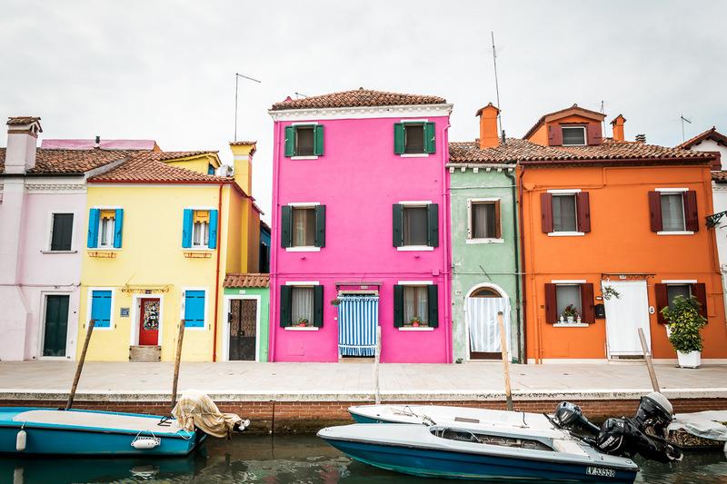 Burano, Venedig, Venezia, Bunte Häuser, Italien, Lagune