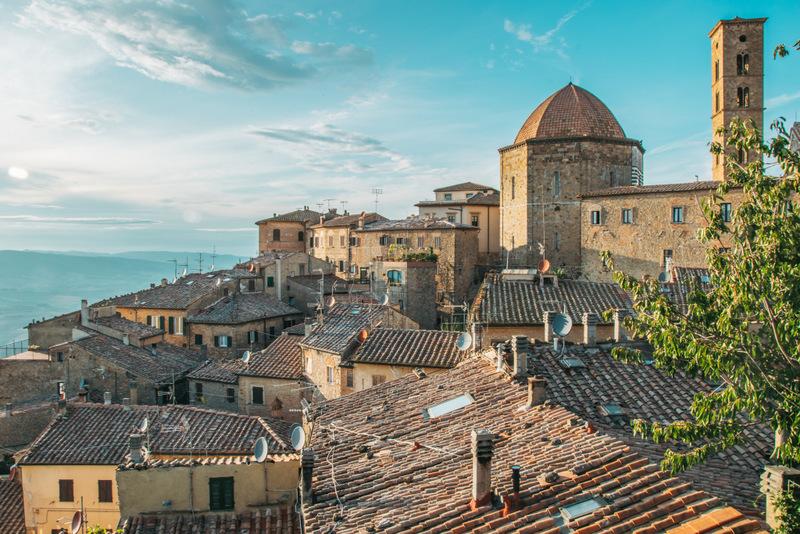 Volterra, Toskana, Italien, Stadtmauer