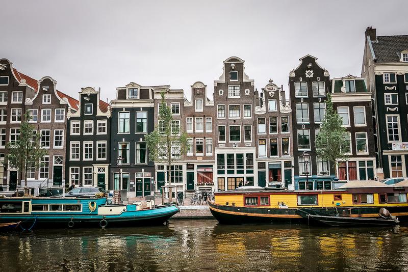 Amsterdam, Grachten, Hausboote, Kanäle, Städtetrip