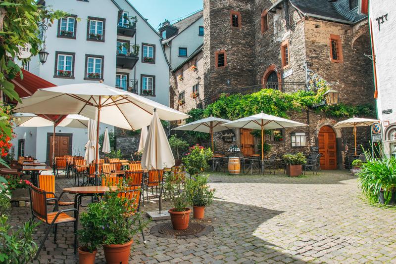 Marktplatz, Beilstein, Mosel, Deutschland, Urlaub, der schönste Ort an der Mosel