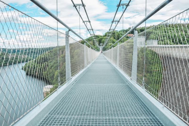 Hängeseilbrücke, Titan Rt, Harz, Rapodetalsperre, Rapode, Urlaub in Deutschland, Action im Urlaub